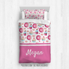 Golly Girls: Yum! Sweet Treats Personalized Twin Comforter Plus Sham
