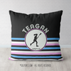 Personalized Ripple Stripes Lacrosse Throw Pillow - Golly Girls