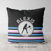Personalized Ripple Stripes Tennis Throw Pillow - Golly Girls