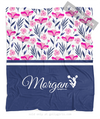 Golly Girls: Tropical Flowers Personalized Cheer Fleece Blanket