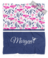 Golly Girls: Tropical Flowers Personalized Figure Skating Fleece Throw Blanket