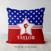 Personalized Patriotic USA Figure Skating Throw Pillow