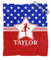 Golly Girls: Personalized Patriotic USA Basketball Fleece Throw Blanket
