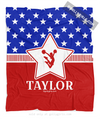 Golly Girls: Personalized Patriotic USA Cheerleading Fleece Throw Blanket