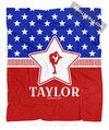 Golly Girls: Personalized Patriotic USA Figure Skating Fleece Throw Blanket