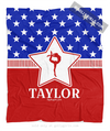 Golly Girls: Personalized Patriotic USA Gymnastics Fleece Throw Blanket