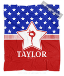 Golly Girls: Personalized Patriotic USA Gymnastics Fleece Blanket