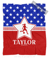 Golly Girls: Personalized Patriotic USA Soccer Fleece Throw Blanket