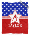 Golly Girls: Personalized Patriotic USA Tennis Fleece Throw Blanket