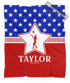Golly Girls: Personalized Patriotic USA Volleyball Fleece Throw Blanket