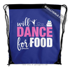 Golly Girls: Will Dance for Food Blue Drawstring Backpack