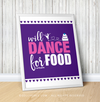 "Golly Girls: Will Dance For Food Purple 16"" x 20"" Poster"