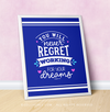 "Working For Your Dreams 16"" x 20"" Poster in Blue - Golly Girls"