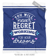 Dark Blue Work For Your Dreams Fleece Throw Blanket