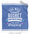 Steel Blue Work For Your Dreams Fleece Throw Blanket