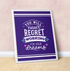 "Working For Your Dreams 16"" x 20"" Poster in Purple - Golly Girls"