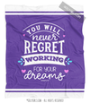 Purple Work For Your Dreams Fleece Throw Blanket