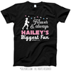 Golly Girls: Personalized Biggest Fan Basketball Black T-Shirt (Youth-Adult)
