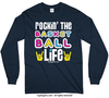 Golly Girls: Rockin' the Basketball Life Navy Long Sleeve T-Shirt (Youth & Adult Sizes)