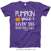 Golly Girls: Pumpkin Spice Basketball Purple T-Shirt (Youth & Adult Sizes)