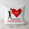 My Heart Beats for Basketball Throw Pillow - Golly Girls