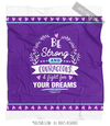 Be Strong for Your Dreams Purple Fleece Throw Blanket