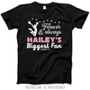 Golly Girls: Personalized Biggest Fan Cheer Black T-Shirt (Youth-Adult)
