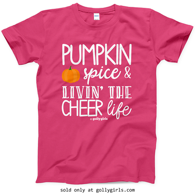 Golly Girls: Pumpkin Spice Cheer Heliconia T-Shirt (Youth & Adult Sizes)