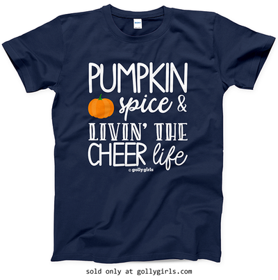 Golly Girls: Pumpkin Spice Cheer Navy T-Shirt (Youth & Adult Sizes)