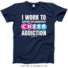 Golly Girls: Work to Support Daughter's Cheer Navy T-Shirt