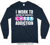 Golly Girls: Work to Support Daughter's Cheer Navy Long Sleeve T-Shirt
