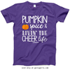 Golly Girls: Pumpkin Spice Cheer Purple T-Shirt (Youth & Adult Sizes)