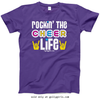 Golly Girls: Rockin' the Cheer Life Purple T-Shirt (Youth & Adult Sizes)