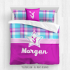 Golly Girls: Bubblegum Plaid Cheerleading Personalized Comforter Or Set