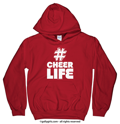 Golly Girls: Hashtag Cheer Life Hoodie (Youth-Adult)