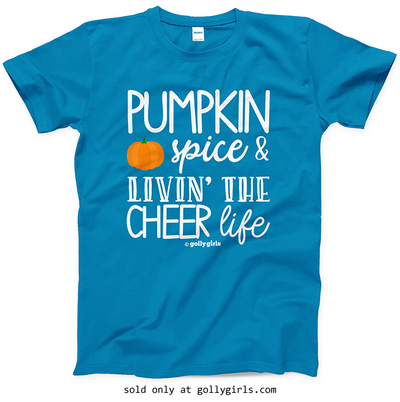 Golly Girls: Pumpkin Spice Cheer Sapphire T-Shirt (Youth & Adult Sizes)