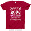 Sorry Boys Cheerleading T-Shirt (Youth-Adult) - Golly Girls