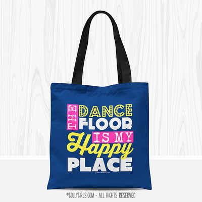 Golly Girls: The Dance Floor Is My Happy Place Blue Throw Pillow