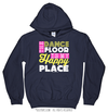 Golly Girls: The Dance Floor Is My Happy Place Navy Hoodie (Youth-Adult)