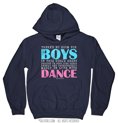 Golly Girls: No Room For Boys Dance Navy Hoodie (Youth-Adult)