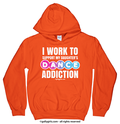Golly Girls: Work to Support Daughter's Dance Orange Hoodie