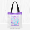 Golly Girls: Purple Typography Personalized Dance Tote Bag