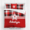 Red and Black Plaid Dance Personalized Comforter Or Set