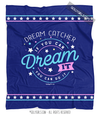 Dream Catcher Dream It Do It Blue Fleece Throw Blanket