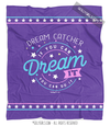Dream Catcher Dream It Do It Purple Fleece Throw Blanket