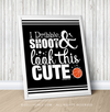 "Golly Girls: Dribble Shoot Look Cute Basketball Black 16"" x 20"" Poster"