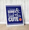 "Golly Girls: Dribble Shoot Look Cute Basketball Blue 16"" x 20"" Poster"