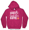 Golly Girls: Dribble Shoot Look Cute Basketball Heliconia Hoodie (Youth & Adult Sizes)