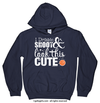 Golly Girls: Dribble Shoot Look Cute Basketball Navy Hoodie (Youth & Adult Sizes)