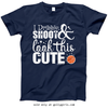 Golly Girls: Dribble Shoot Look Cute Basketball Navy T-Shirt (Youth & Adult Sizes)